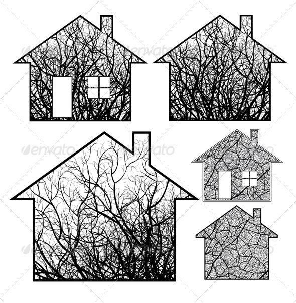 GraphicRiver Ecological Houses 4319918