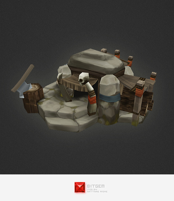 3DOcean Low Poly RTS Orc Lumber Jack 4320273