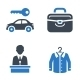 Hotel Services and Facilities Icons, Set 1 - Blue - GraphicRiver Item for Sale
