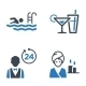 Hotel Services and Facilities Icons, Set 2 - Blue - GraphicRiver Item for Sale