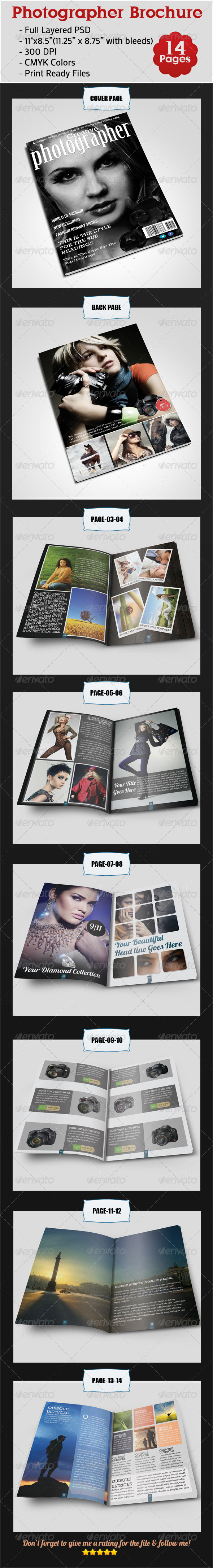 GraphicRiver Photographer Brochure 4172155