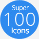 100 Super Icons Pack v.1.0 - GraphicRiver Item for Sale