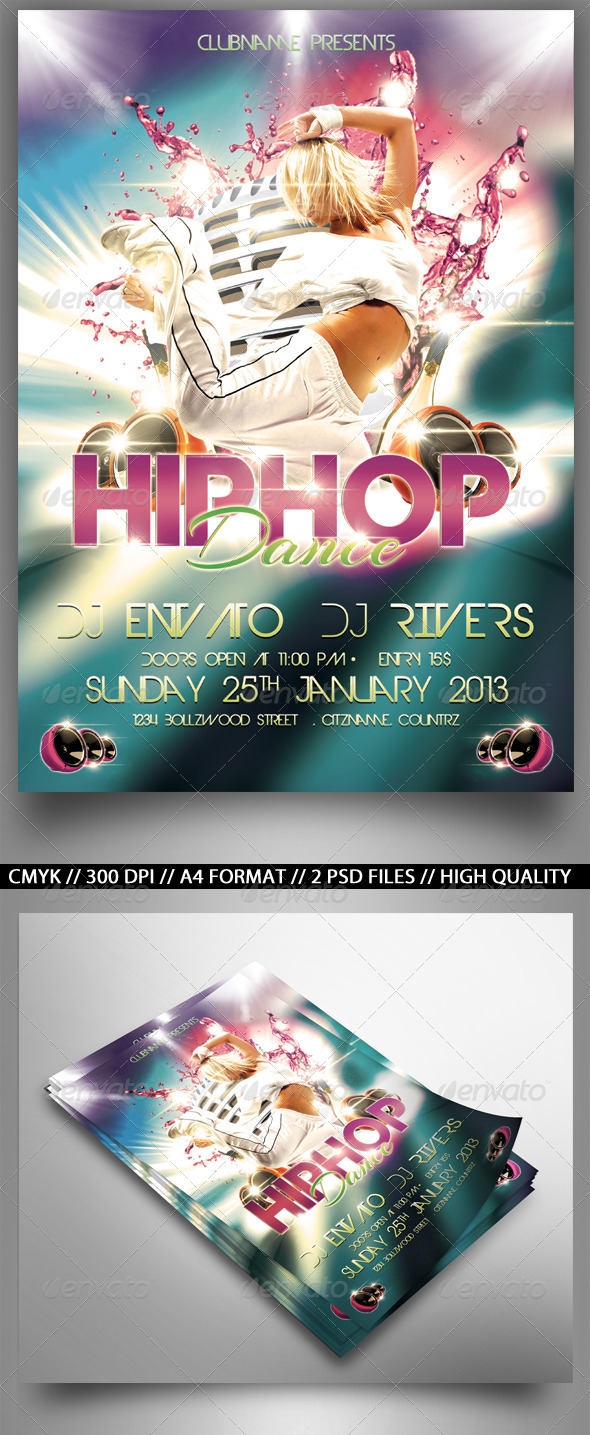 GraphicRiver HipHop Party 4177679 Created: 20