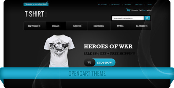 ThemeForest T-Shirt Store OpenCart Theme 4321545