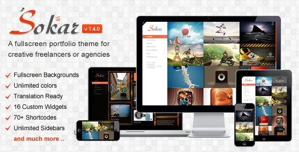 Sokar - Responsive Fullscreen Portfolio WP Theme