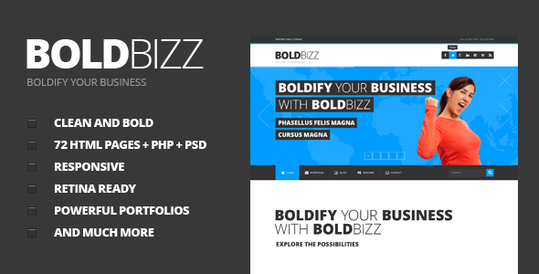 BOLDBIZZ - Multi Purpose HTML Template