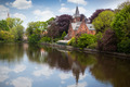 Spring landscape in Love lake - Bruges, Belgium - PhotoDune Item for Sale