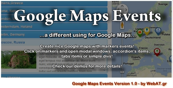 CodeCanyon Google Maps Events 4322123