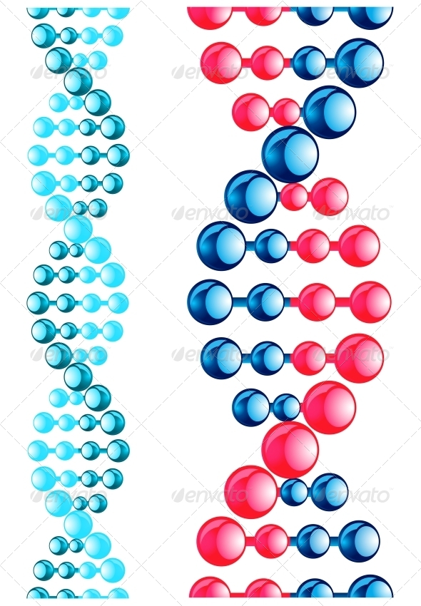Molecule with DNA Elements - Health/Medicine Conceptual