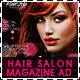 Hair Salon Fashion Style Magazine Ad - GraphicRiver Item for Sale