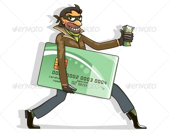 GraphicRiver Thief Steals Credit Card and Money 4322317