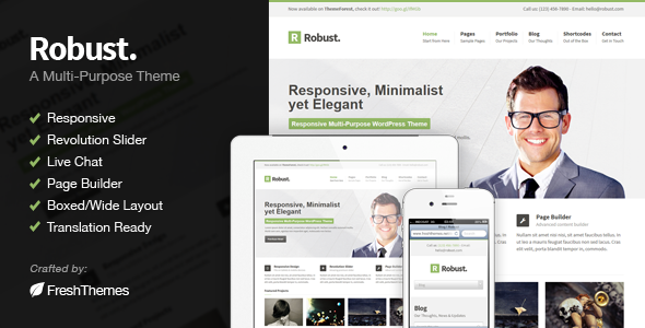 Robust - Responsive Multi-Purpose WordPress Theme