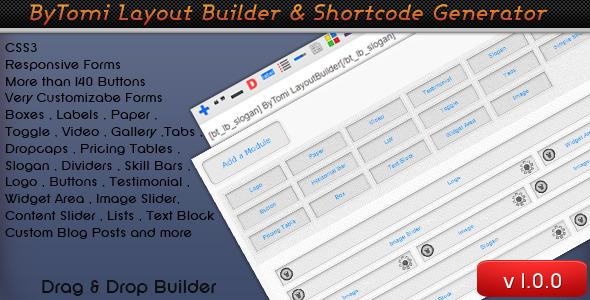 CodeCanyon ByTomi Layout Builder & Shortcode Generator 4306961