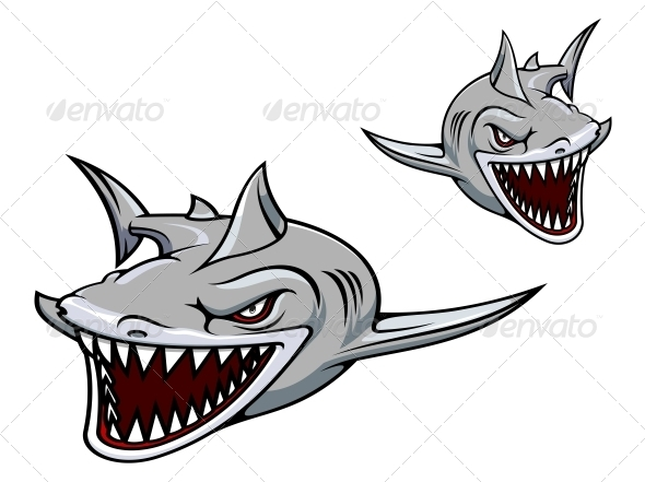 GraphicRiver Gray Shark Mascot 4322535