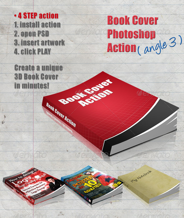 GraphicRiver 3D Book Cover Action Angle 3 4322588
