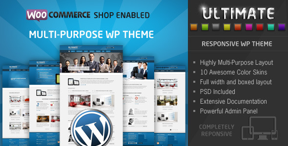 Ultimate - Multi Purpose Responsive WP Theme