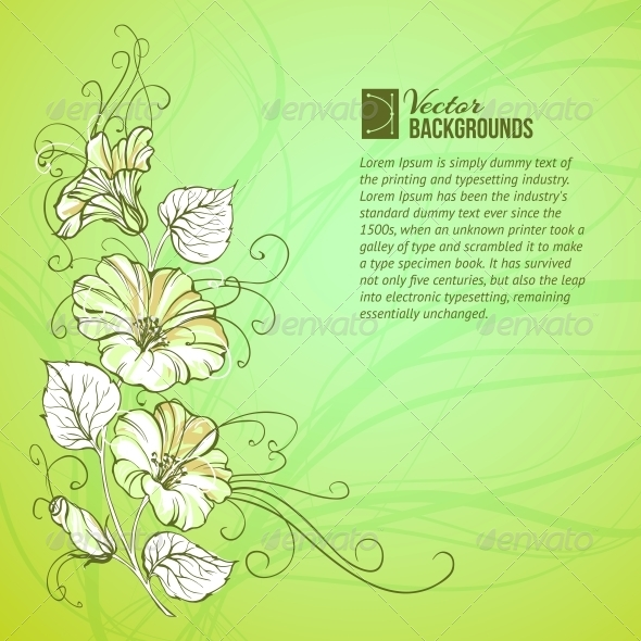 GraphicRiver Bindweed on a Green Background 4324019