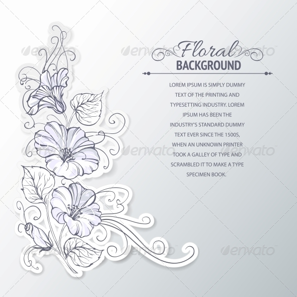 GraphicRiver Bindweed on a Gray Background 4324118