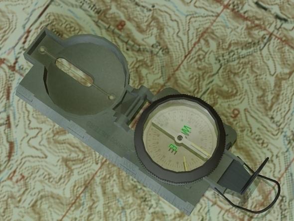 3DOcean Lensatic Compass 4313009