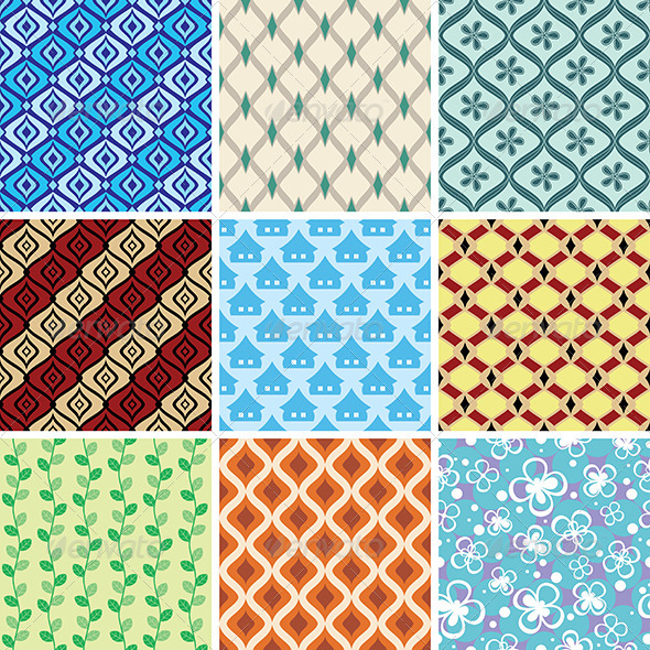 GraphicRiver Abstract Vector Patterns 4325412