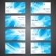 Business Cards set with Abstract Geometric Background - GraphicRiver Item for Sale