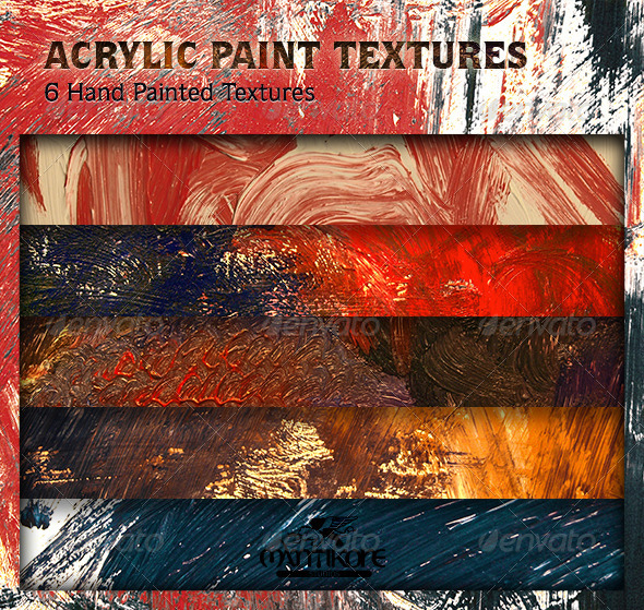 GraphicRiver Acrylic Paint Textures 4325706