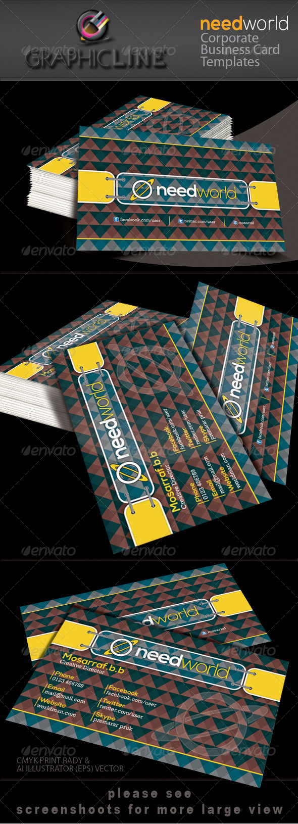 GraphicRiver Need World Corporate Business Card 4325889