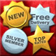 Gold and Silver Stars and Badges - GraphicRiver Item for Sale