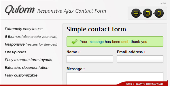 Quform - Responsive Ajax Contact Form -