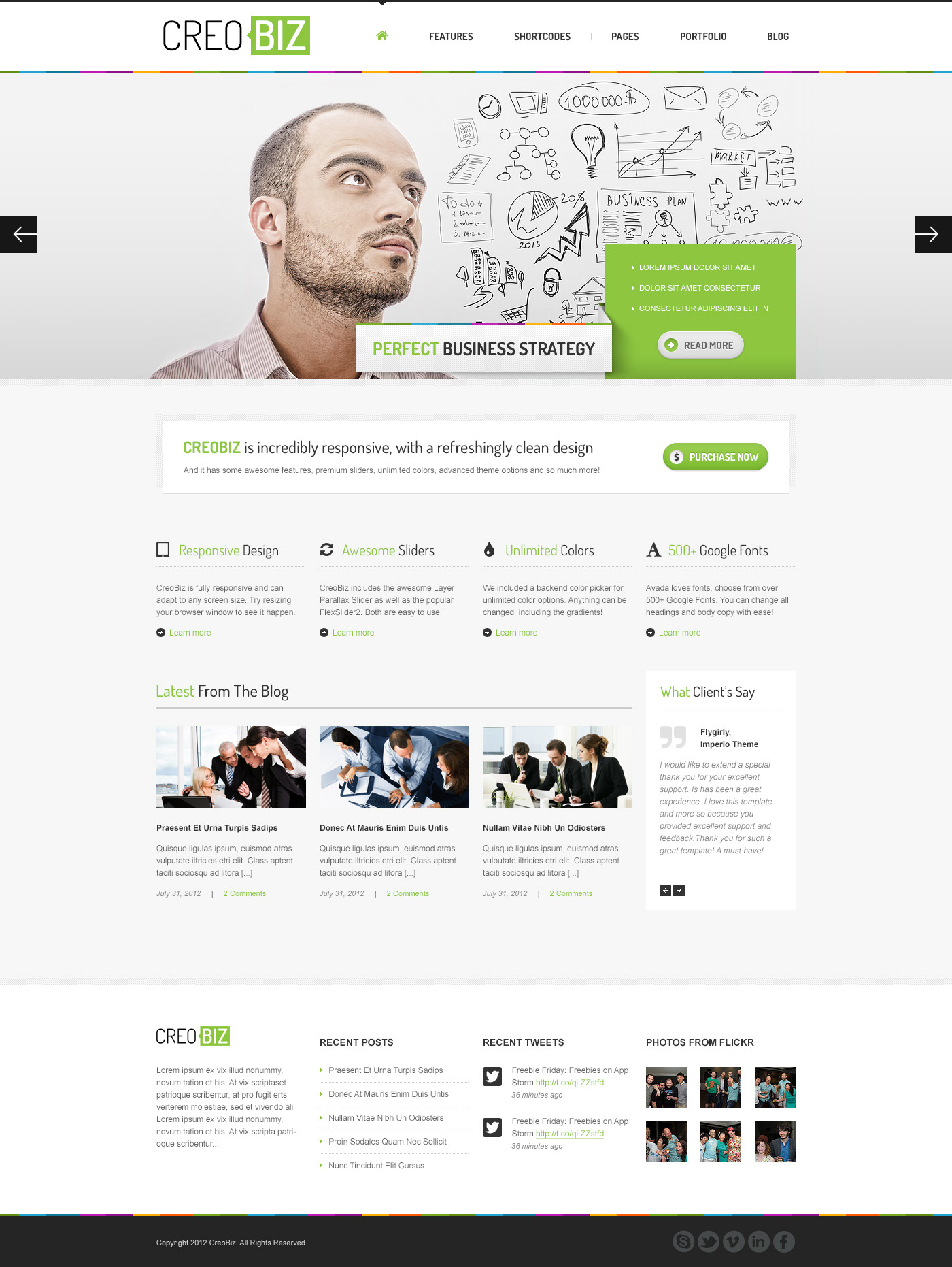 CreoBIZ - Corporate / Creative PSD Template
