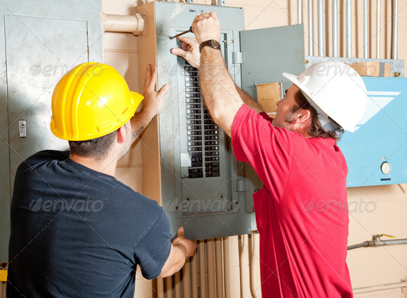 Electrician Teamwork - Stock Photo - Images