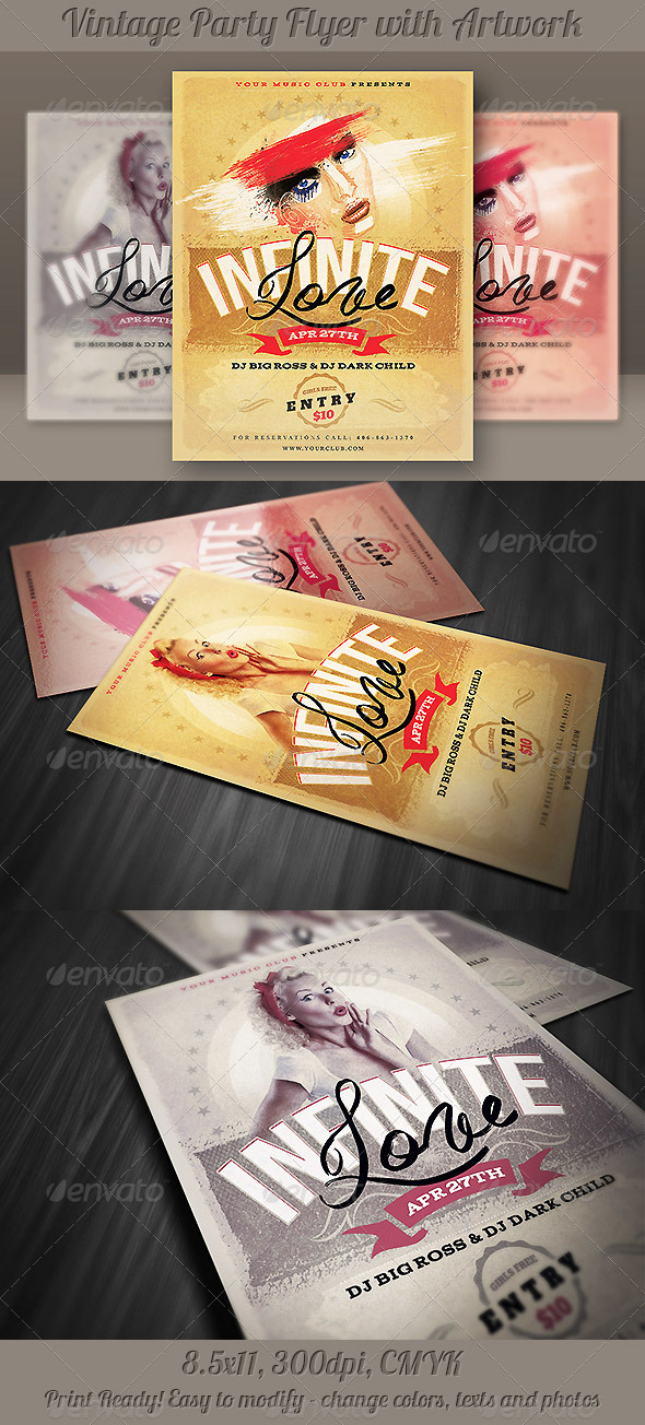 GraphicRiver Unique Vintage Flyer 4328877