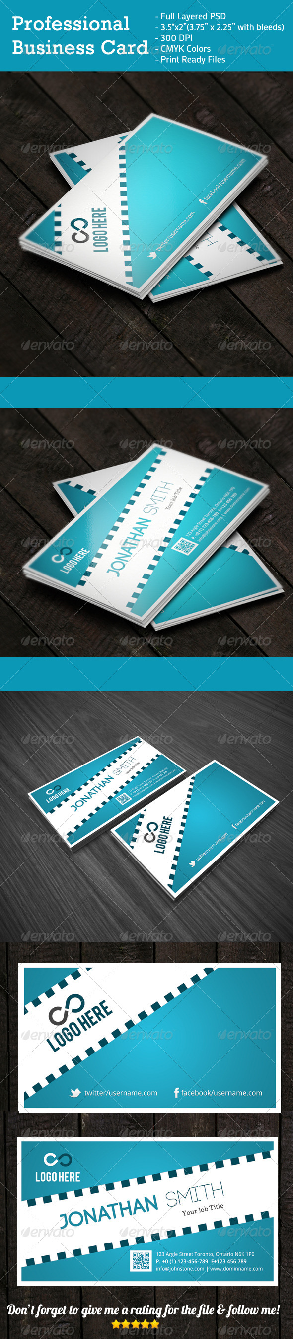 GraphicRiver Professional Business Card 4162995