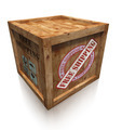 wooden box crate with free shipping sign - PhotoDune Item for Sale