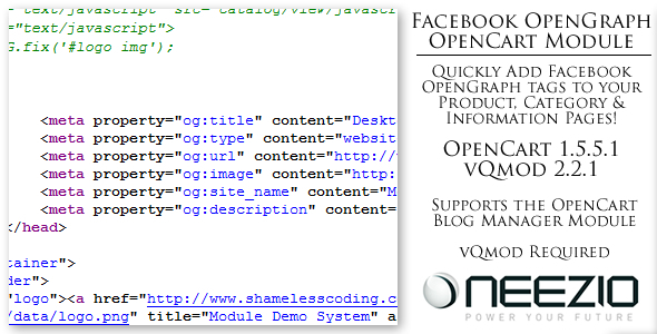 Facebook OpenGraph Module for OpenCart (vQmod) - CodeCanyon Item for Sale