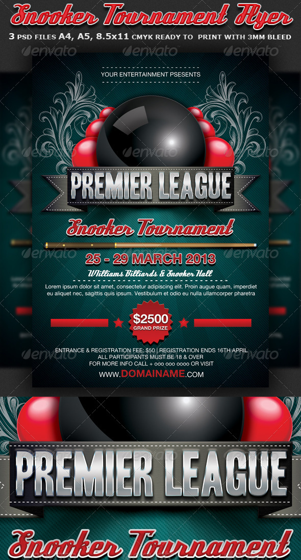 Snooker Flyer Template - Flyers Print Templates