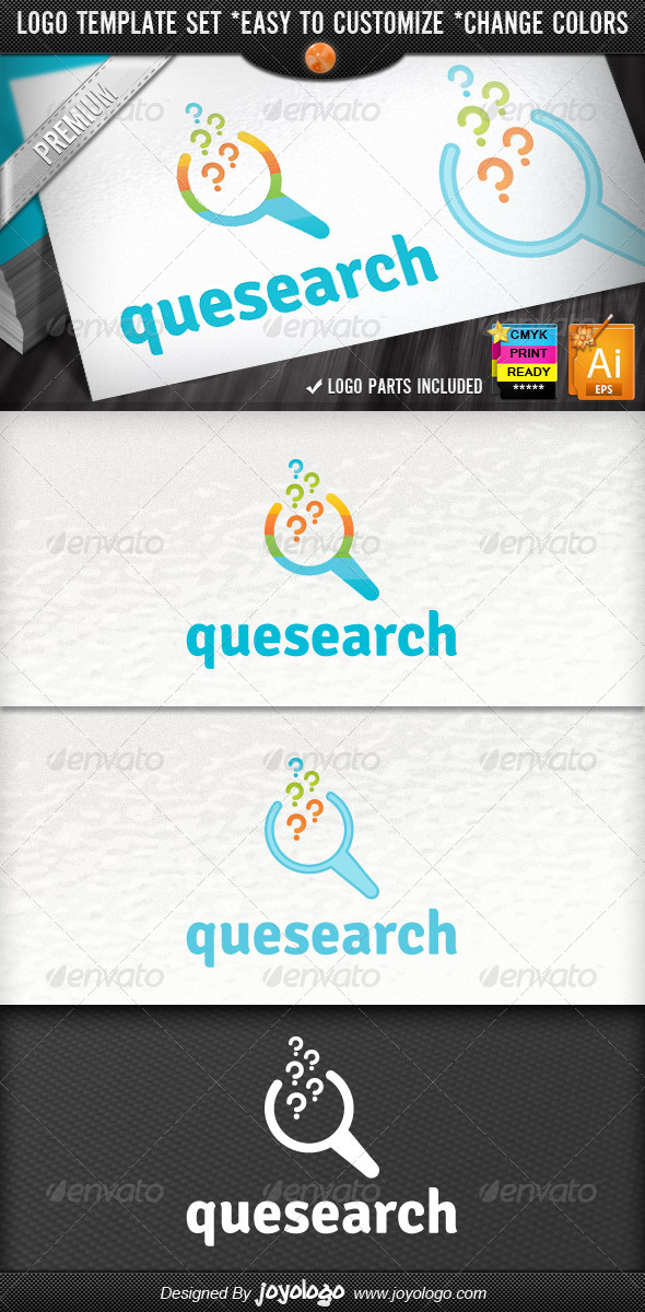 GraphicRiver SEO Specialist Pixel Question Search Logo Template 4249153