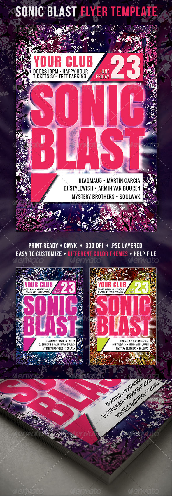 GraphicRiver Sonic Blast Flyer 4332417