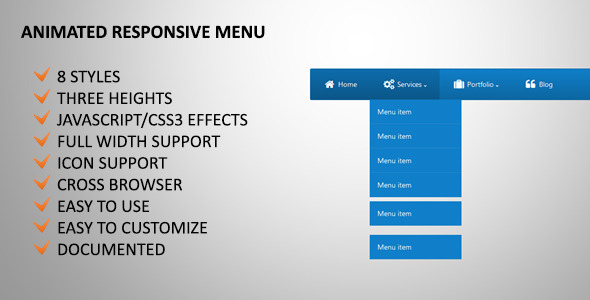 CodeCanyon Animated Responsive Menu 4332950