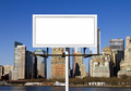 Billboard Sign Against New York City Background - PhotoDune Item for Sale