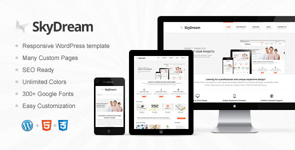 ThemeForest SkyDream Responsive Multi-Purpose WordPress Theme 4333137