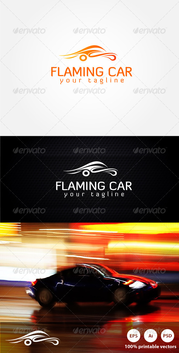 Flaming Car Logo - Symbols Logo Templates