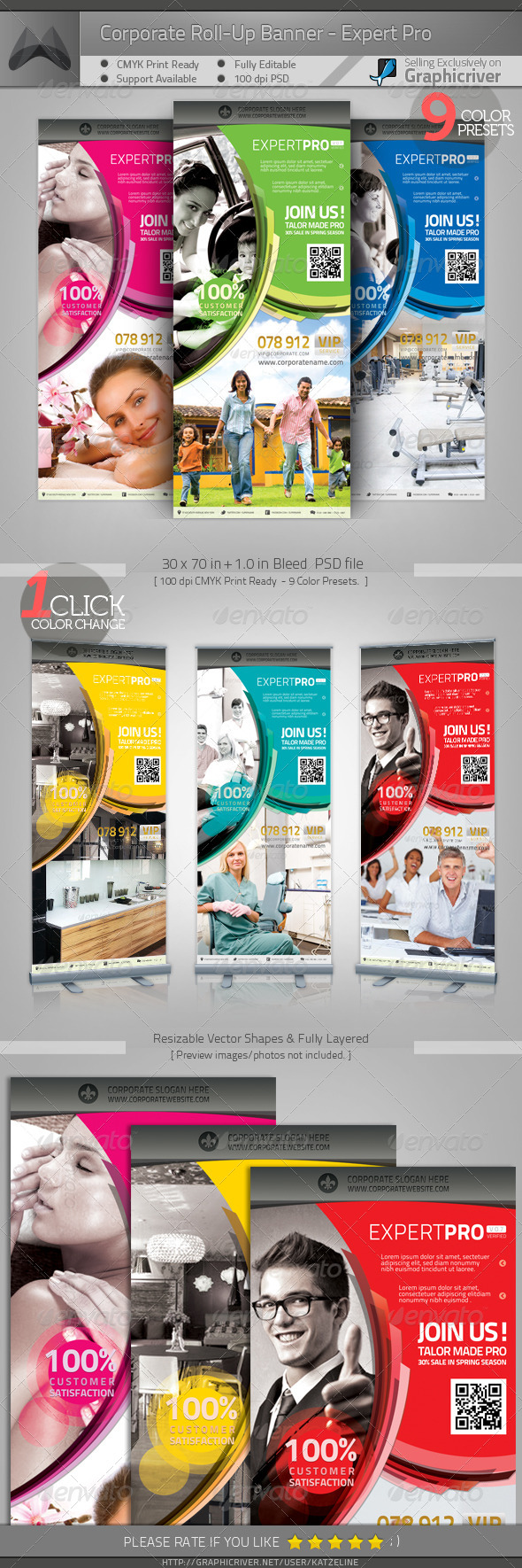 GraphicRiver Corporate Roll-up Banner Expert Pro 4178402