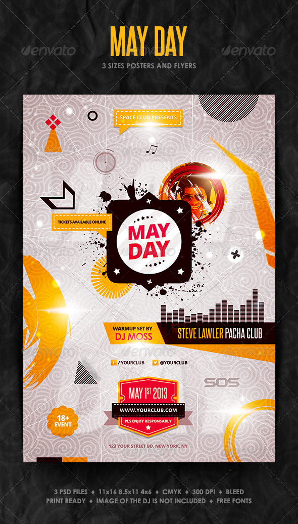 GraphicRiver May Day Posters and Flyer 4335020