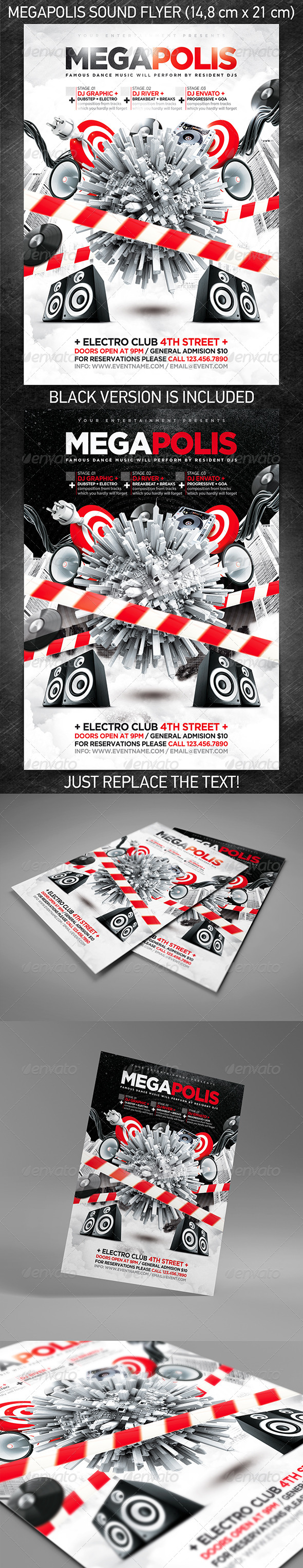 Megapolis Sound Party Flyer - Clubs & Parties Events
