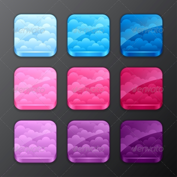 GraphicRiver Set of Backgrounds with Clouds 4335924