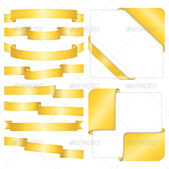 GraphicRiver Golden Ribbons 4251601