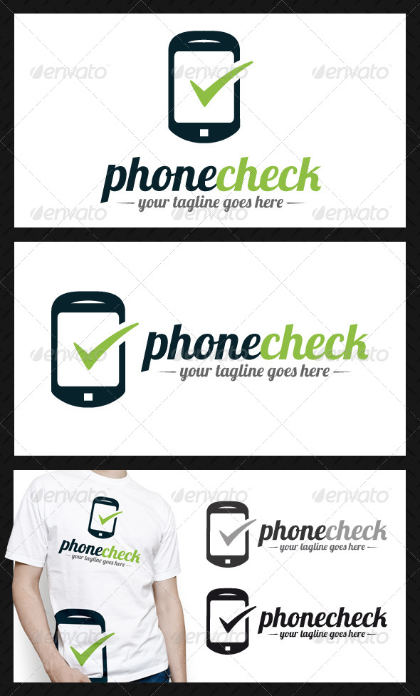 GraphicRiver Phone Tick Check Mark Logo Template 4337734