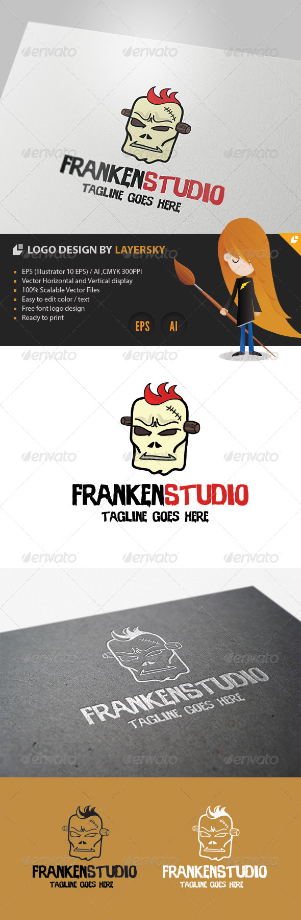 Franken Studio Logo - Vector Abstract