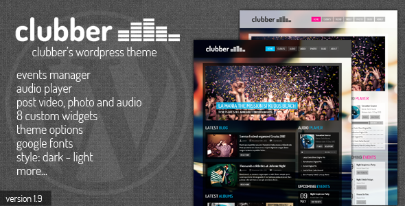 Clubber - Events & Music WordPress Theme - Nightlife Entertainment